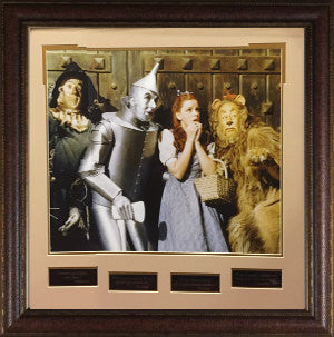 Wizard of Oz 16X20 Photo Engraved Quote Series Premuim Leather Framing 28x29 Judy Garland, Jack Haley, Ray Bolger PSM-Powers Sports Memorabilia