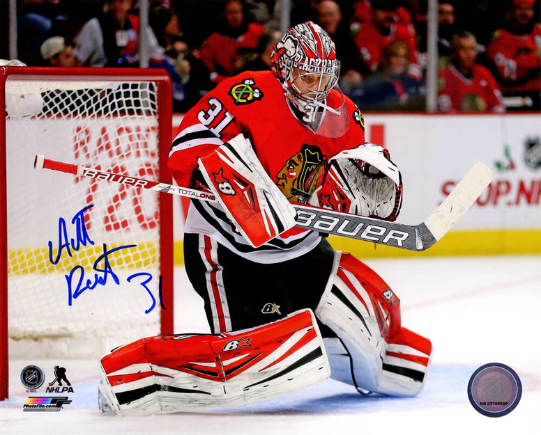 Antti Raanta Signed Chicago Blackhawks Action Red Jersey 8x10 Photo PSM-Powers Sports Memorabilia