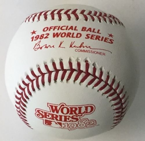 Rawlings Official 1982 World Series Baseball PSM