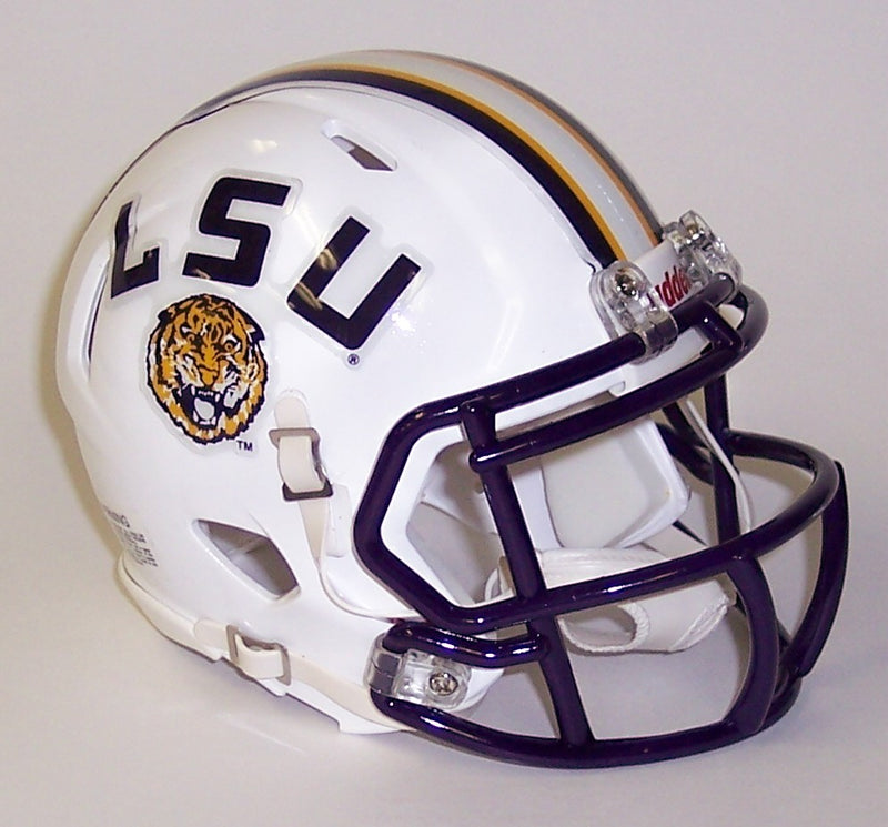 LSU Tigers Riddell Speed Mini Football Helmet PSM-Powers Sports Memorabilia