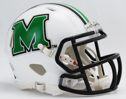 Marshall Thundering Herd Riddell Speed Mini Football Helmet PSM-Powers Sports Memorabilia