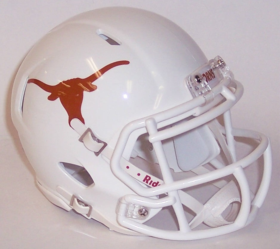 Texas Longhorns Riddell Speed Mini Football Helmet PSM-Powers Sports Memorabilia
