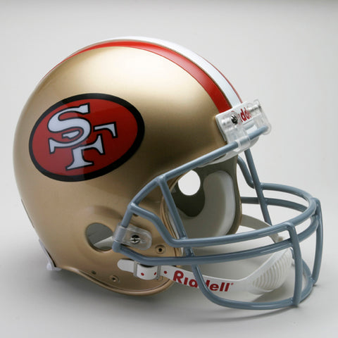 San Francisco 49ers 1964-1995 Throwback Riddell Full Size Authentic Proline Football Helmet PSM-Powers Sports Memorabilia