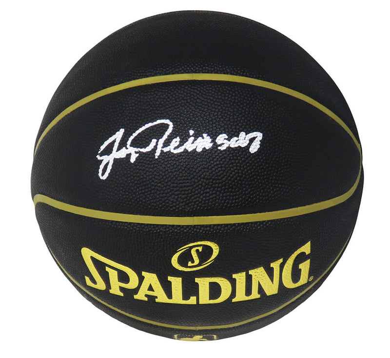 Jerry Reinsdorf Signed Spalding Elevation Black NBA Basketball PSM-Powers Sports Memorabilia