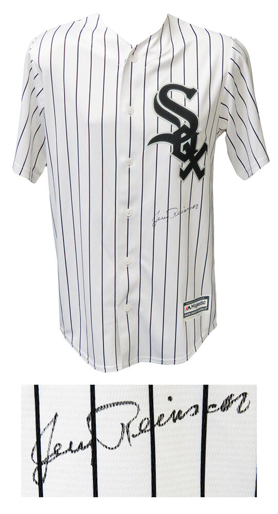 Jerry Reinsdorf Signed Chicago White Sox Majestic White Pinstripe Jersey PSM-Powers Sports Memorabilia