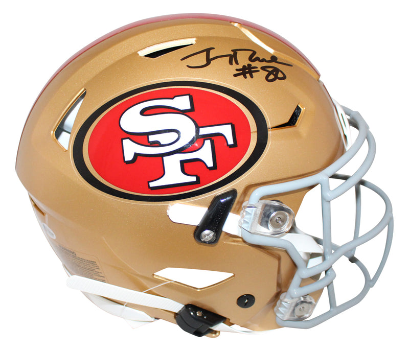 Jerry Rice Signed San Francisco 49ers Authentic Speed Flex Helmet BAS PSM-Powers Sports Memorabilia