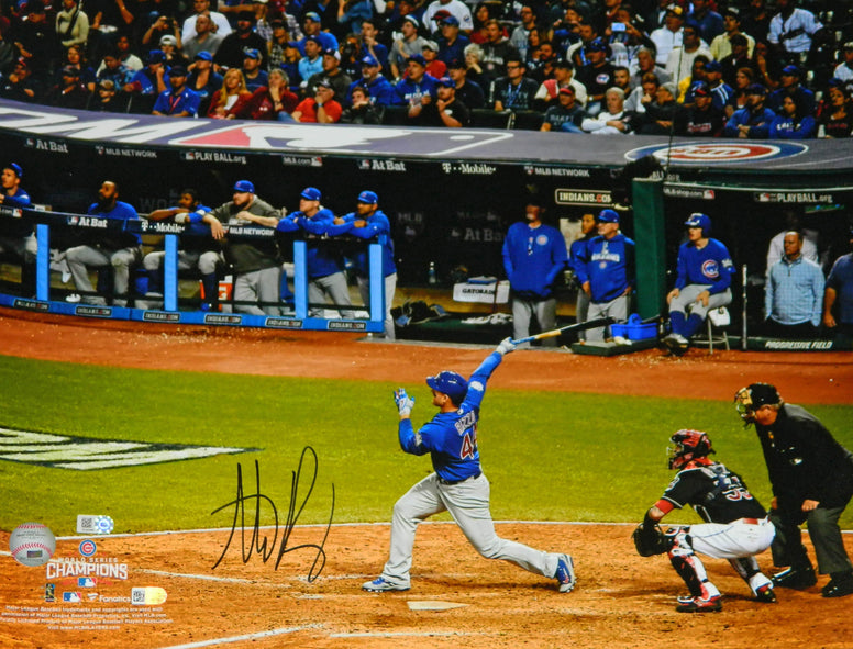 Anthony Rizzo Signed Chicago Cubs 2016 World Series Home Run 16x20 Photo PSM-Powers Sports Memorabilia