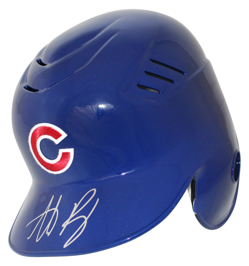 Anthony Rizzo Autographed/Signed Chicago Cubs Batting Helmet BAS PSM-Powers Sports Memorabilia