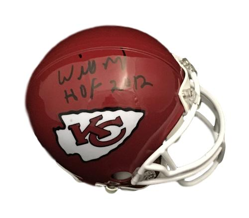 Willie Roaf Autographed Kansas City Chiefs Riddell Mini Helmet HOF JSA PSM-Powers Sports Memorabilia