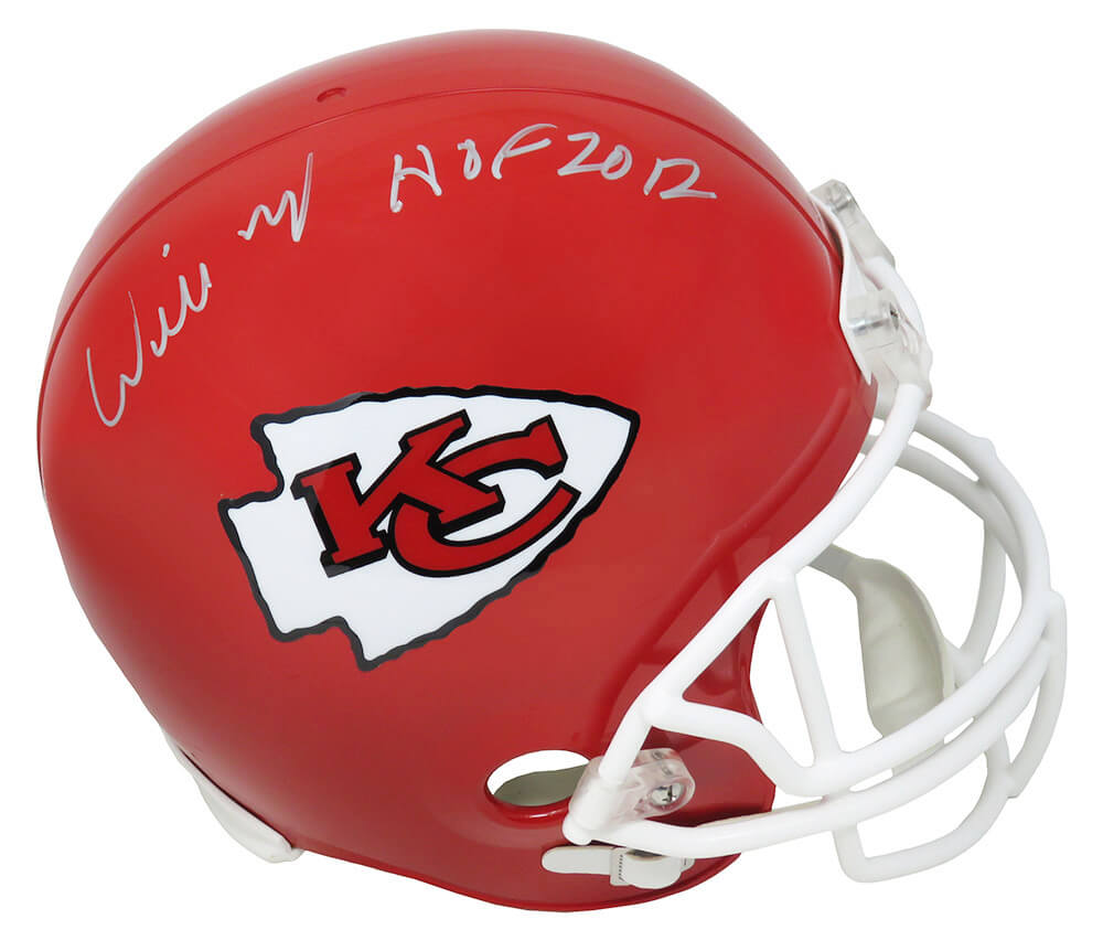Willie Roaf Signed Kansas City Chiefs Riddell Full Size Replica Helmet w/HOF 2012 PSM-Powers Sports Memorabilia