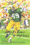 Dave Robinson Autographed Green Bay Packers Goal Line Art Card in Black w/HOF 2013 PSM-Powers Sports Memorabilia
