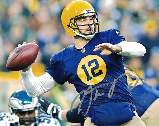 Aaron Rodgers Autographed Green Bay Packers 8x10 Photo ACME JSA PSM-Powers Sports Memorabilia