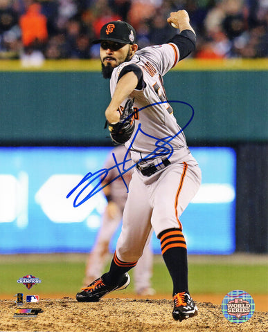 Sergio Romo Signed San Francisco Giants 2012 World Series Pitching Action 8x10 Photo PSM-Powers Sports Memorabilia