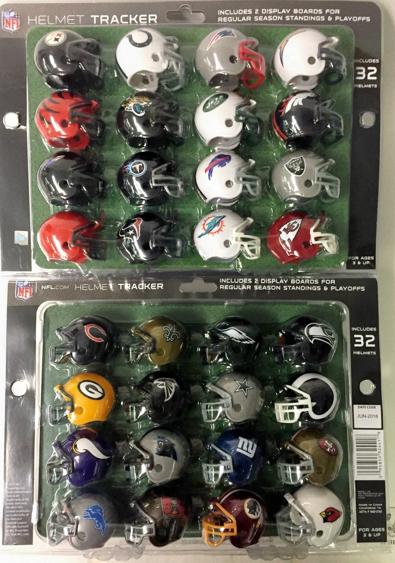 Riddell 32 Piece NFL Tracker Gumball Size Helmet Set - All current NFL team logo's PSM-Powers Sports Memorabilia