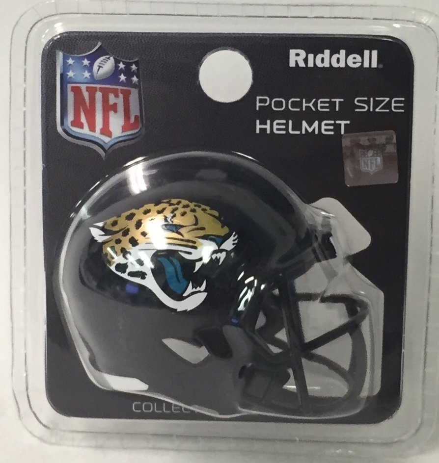 Jacksonville Jaguars Riddell Pocket Pro Football Helmet PSM-Powers Sports Memorabilia