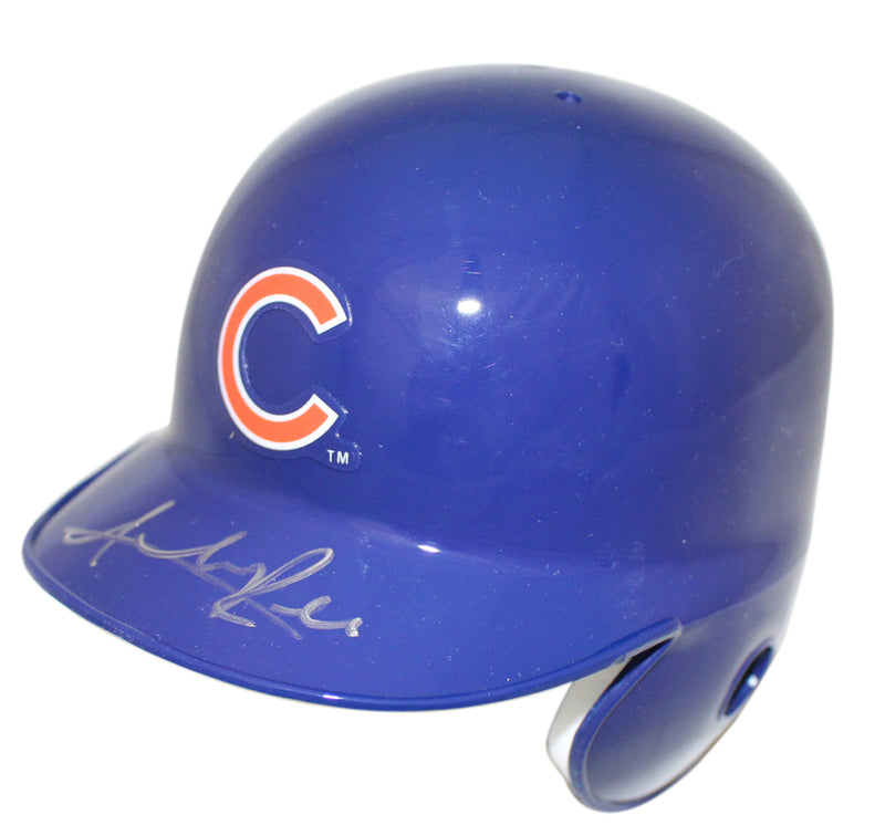 Addison Russell Autographed/Signed Chicago Cubs Mini Batting Helmet JSA PSM-Powers Sports Memorabilia