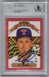 Nolan Ryan Autographed Texas Rangers 1990 Donruss Trading Card BAS PSM-Powers Sports Memorabilia