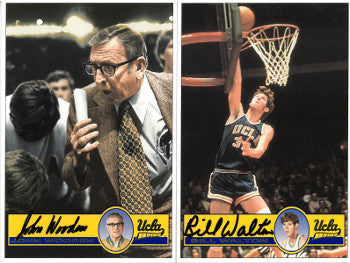John Wooden (JSA) and Bill Walton signed UCLA Bruins 4X6 Color Photo Set of 2 PSM-Powers Sports Memorabilia