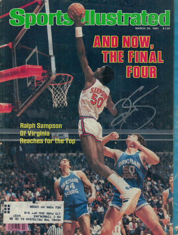 Ralph Sampson Autographed March 30, 1981 Virginia Cavaliers Sports Illustrated PSM-Powers Sports Memorabilia