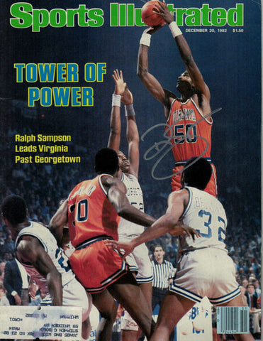 Ralph Sampson Autographed December 20, 1982 Virginia Cavaliers Sports Illustrated PSM-Powers Sports Memorabilia