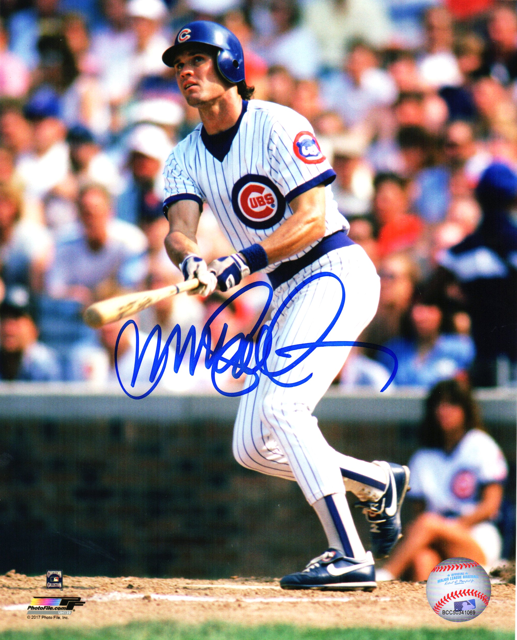 Ryne Sandberg Signed Chicago Cubs Action 8x10 Photo PSM-Powers Sports Memorabilia