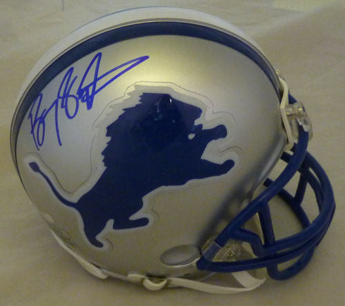 Barry Sanders Autographed Detroit Lions Riddell Mini Helmet JSA PSM-Powers Sports Memorabilia