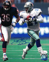 Deion Sanders Autographed Dallas Cowboys 8x10 Photo (vs Bears) JSA PSM-Powers Sports Memorabilia