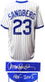 Ryne Sandberg Signed Cubs T/B White Cooperstown Collection Jersey w/HOF 2005 PSM-Powers Sports Memorabilia