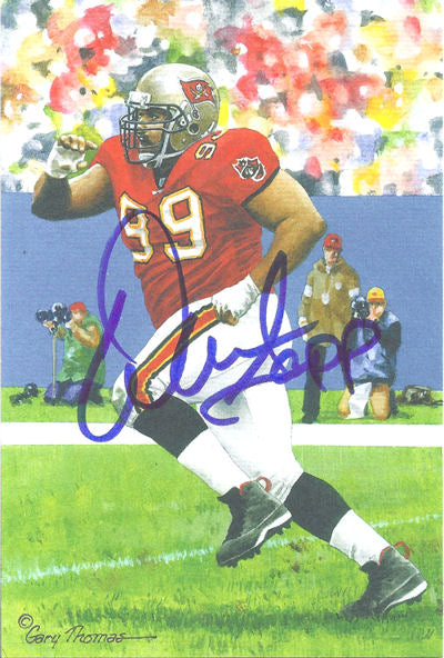 2754ffda3 Warren Sapp Autographed Tampa Bay Bucaneers Goal Line Art in blue PSM-Powers  Sports Memorabilia