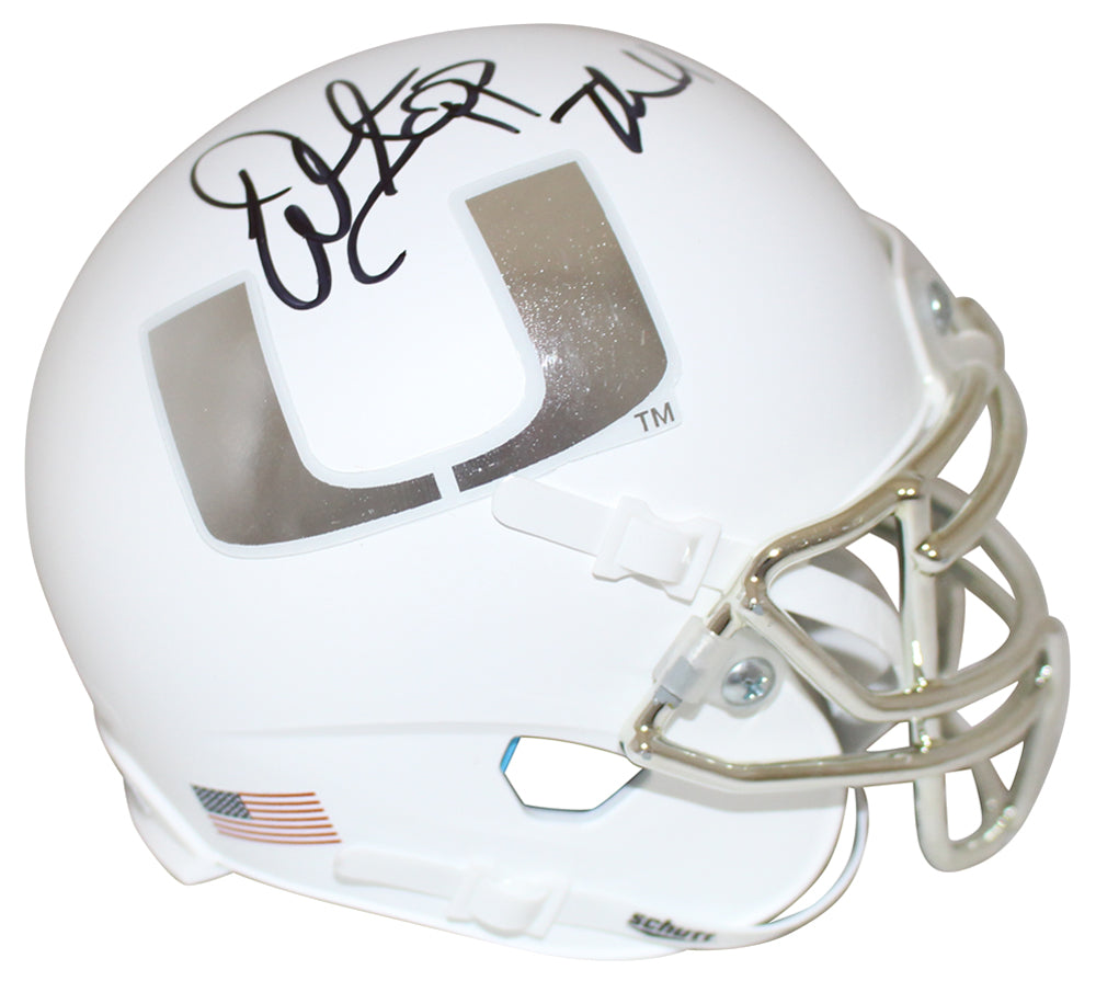 Warren Sapp Autographed Miami Hurricanes Chrome Mini Helmet The U JSA PSM-Powers Sports Memorabilia