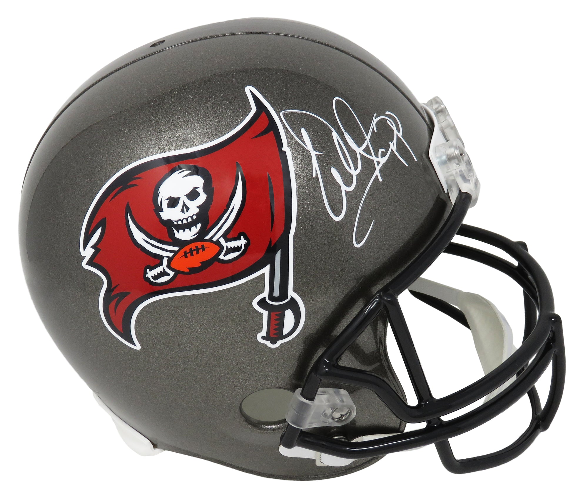 Warren Sapp Signed Tampa Bay Buccaneers Throwback Riddell Full Size Replica Helmet PSM-Powers Sports Memorabilia