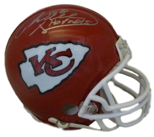 Will Shields Autographed Kansas City Chiefs Riddell Mini Helmet HOF JSA PSM-Powers Sports Memorabilia