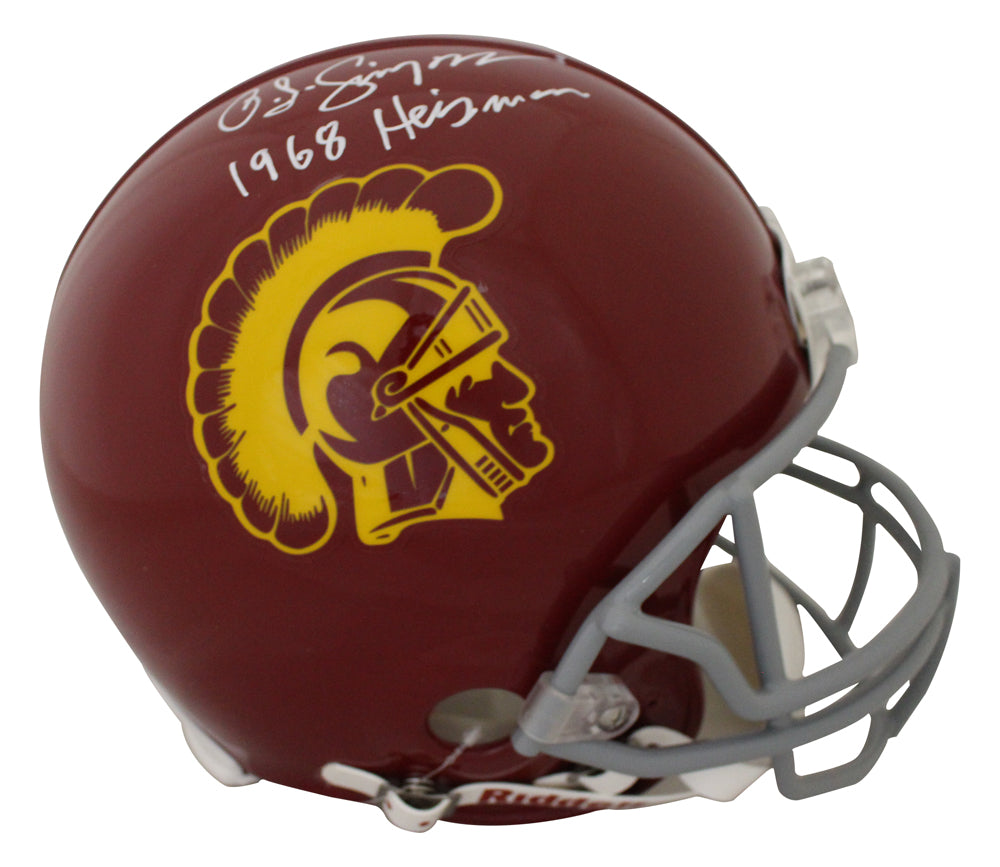 O.J. Simpson Autographed USC Trojans Authentic Helmet 1968 Heisman JSA PSM-Powers Sports Memorabilia