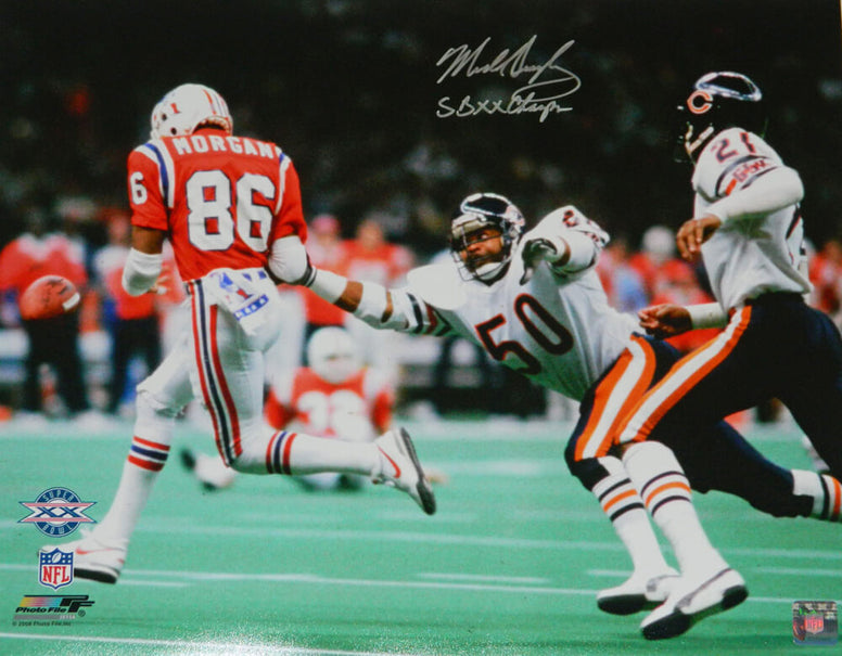 Mike Singletary Signed Chicago Bears Super Bowl XX vs Patriots 16x20 Photo w/SB XX Champs PSM-Powers Sports Memorabilia