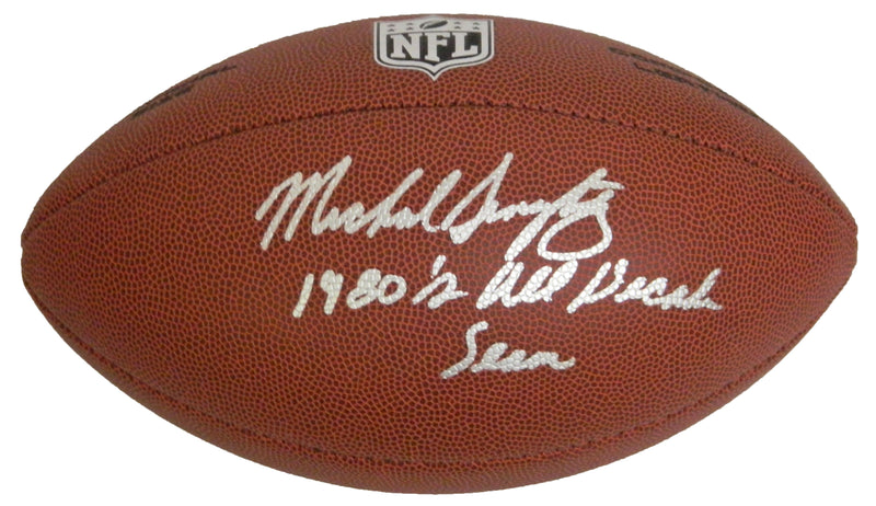 Mike Singletary Signed Wilson NFL Full-Size Football w/1980's All-Decade Team PSM-Powers Sports Memorabilia