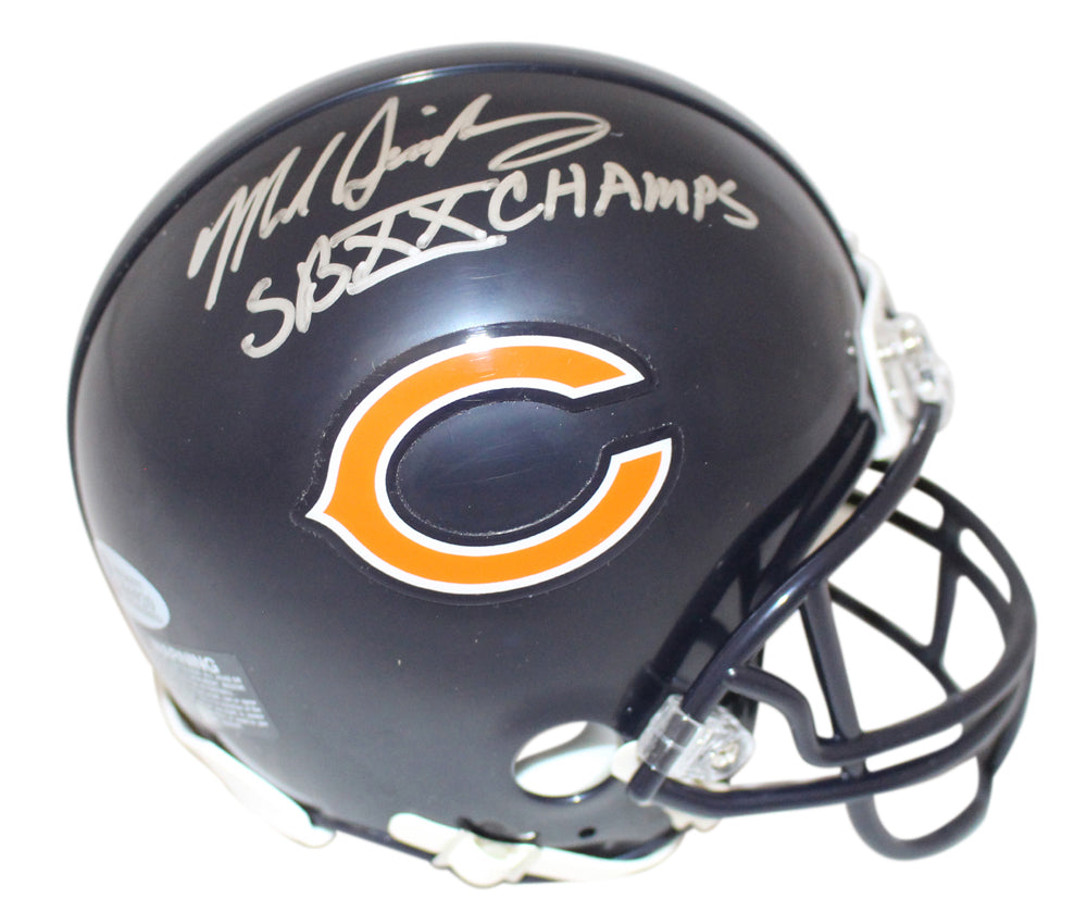 Mike Singletary Autographed Chicago Bears Mini Helmet SB XX Champs BAS PSM