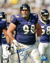 Tony Siragusa Autographed Baltimore Ravens 8x10 Photo (Sas XXXV Blue) JSA PSM-Powers Sports Memorabilia