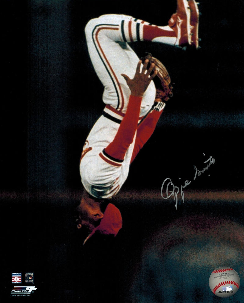 Ozzie Smith Signed Cardinals 'Flip' 8x10 Photo PSM-Powers Sports Memorabilia