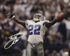 Emmitt Smith Autographed Dallas Cowboys 16x20 Photo (Hands Up Name Only) JSA PSM-Powers Sports Memorabilia