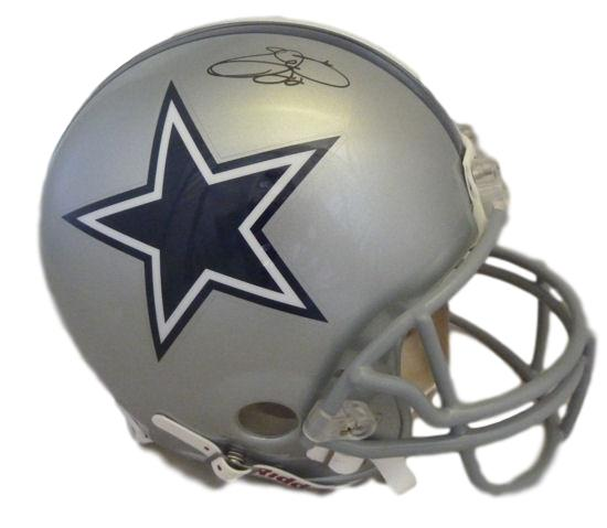 591067a7f Emmitt Smith Autographed Dallas Cowboys Full Size Proline Helmet (Name  Only) Beckett PSM-