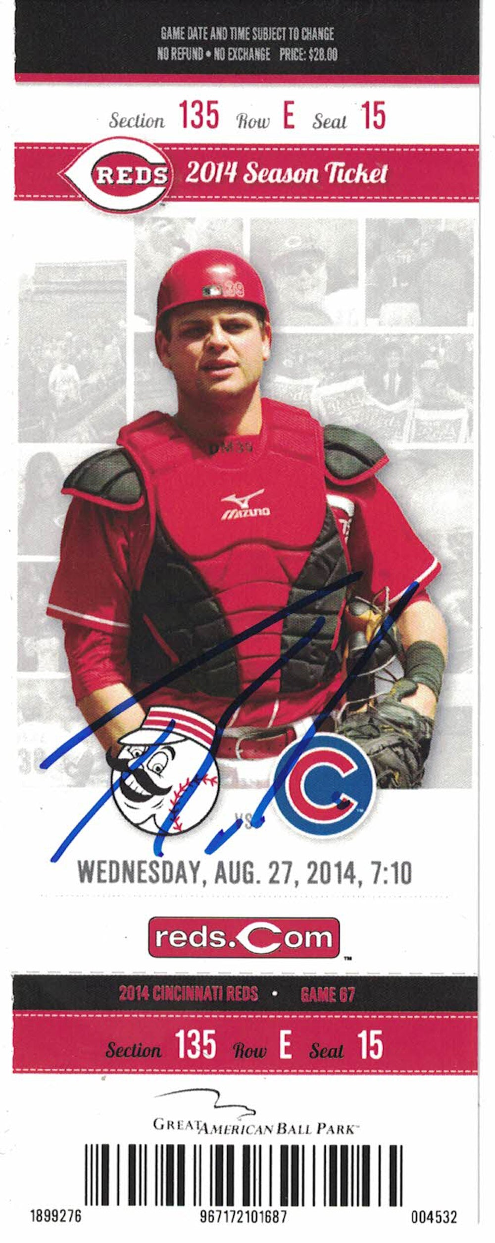 Jorge Soler Autographed Chicago Cubs Ticket 8/27/2014 MLB Debut JSA PSM-Powers Sports Memorabilia