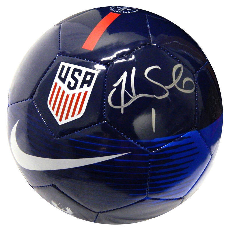 Hope Solo Signed United State Nike Blue Soccer Ball PSM-Powers Sports Memorabilia