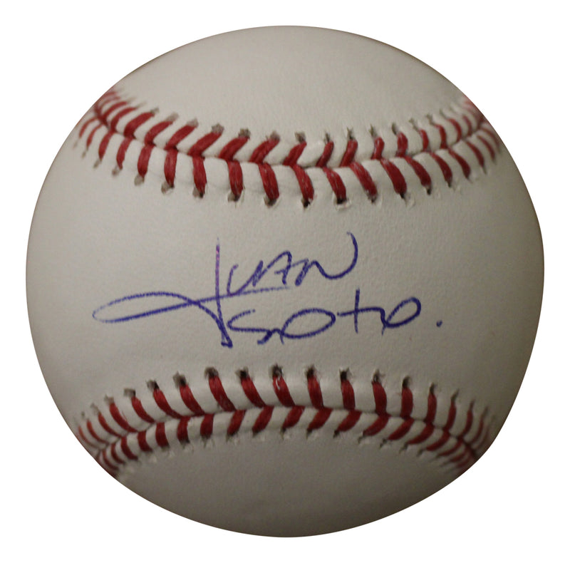 Juan Soto Autographed/Signed Washington Nationals OML Baseball BAS PSM-Powers Sports Memorabilia