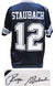 Roger Staubach Signed Navy Throwback Custom Football Jersey PSM-Powers Sports Memorabilia