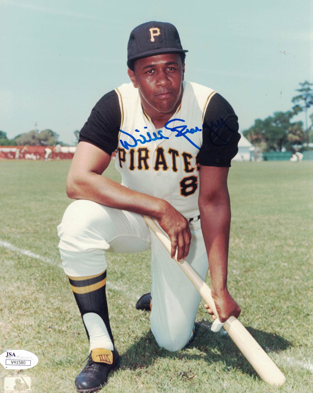Willie Stargell Autographed/Signed Pittsburgh Pirates 8x10 Photo JSA PF PSM-Powers Sports Memorabilia