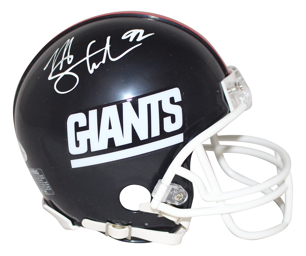 Michael Strahan Autographed New York Giants 81-99 Mini Helmet BAS PSM-Powers Sports Memorabilia