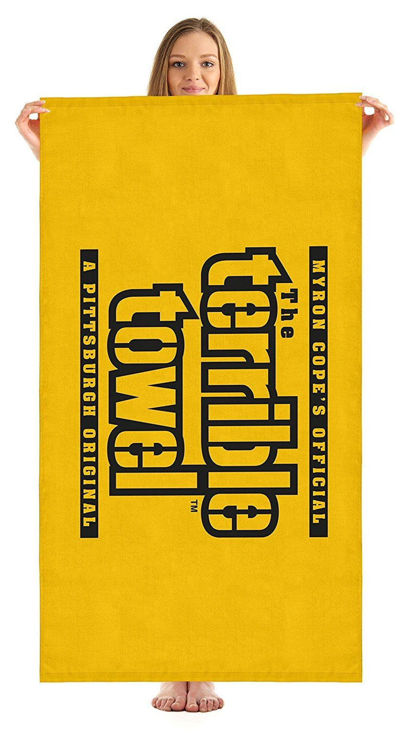 "Pittsburgh Steelers Terrible Beach Towel - 60""x30"" PSM-Powers Sports Memorabilia"