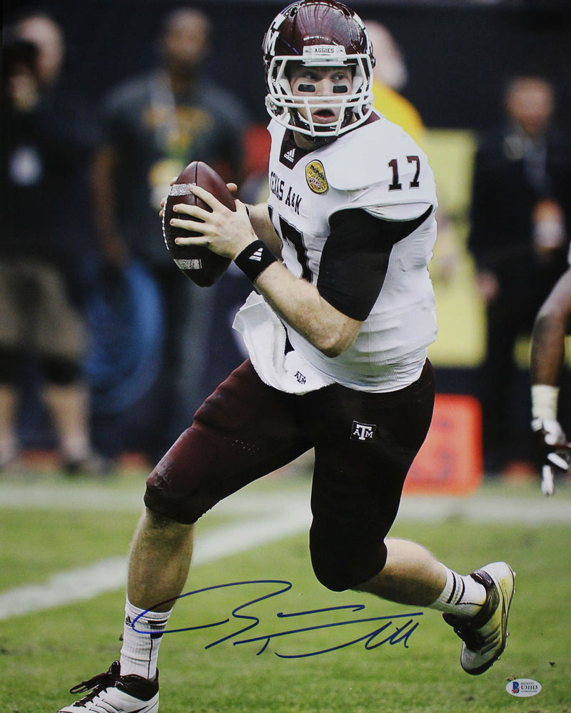 Ryan Tannehill Autographed/Signed Texas A&M Aggies 16x20 Photo BAS PSM-Powers Sports Memorabilia