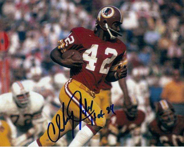 Charley Taylor Autographed Washington Redskins 8x10 Photo HOF insc (vs Dolphins) PSM-Powers Sports Memorabilia