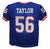 Lawrence Taylor Autographed New York Giants Blue Size XL Jersey HOF JSA PSM-Powers Sports Memorabilia